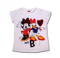 تی شرت دخترانه 100715 سایز 2 تا 6 سال مارک DISNEY