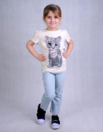 تی شرت دخترانه 100727 سایز 1 تا 8 سال مارک H&M
