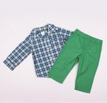 پیراهن و شلوار پسرانه 100782 سایز 3 ماه تا 3 سال مارک Carters