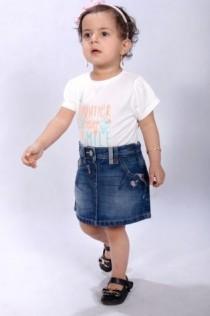 دامن جینز دخترانه 100807 سایز 6 ماه تا 5 سال مارک NEXT