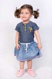 دامن جینز دخترانه 100816 سایز 3 ماه تا 7 سال مارک Carters