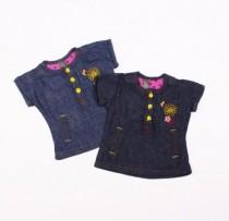 بلوز جینز دخترانه 100876 سایز بدو تولد تا 18 ماه مارک ZARA KIDS
