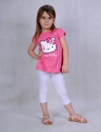 تی شرت دخترانه 100892 سایز 4 تا 9 سال مارک HELLO KITTY