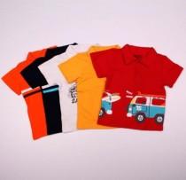 تی شرت یقه دار پسرانه 100944 سایز 12 ماه تا 5 سال مارک BOYZ