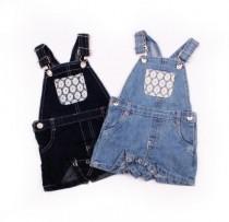 پیشبنددار جینز دخترانه 11012 سایز 6 ماه تا 6 سال محصول بنگلادش