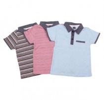 تی شرت یقه دار پسرانه 100999 سایز 2 تا 8 سال مارک PIAZA محصول بنگلادش