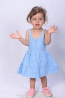 سارافون دخترانه 11054 سایز بدو تولد تا 18 ماه