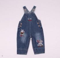 پیشبنددار جينز 110138 سایز 3 تا 24 ماه  کد 4 مارک baby pep